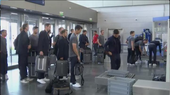 Tras derrota, Alemania vuelve a casa
