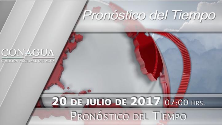 Pronóstico del tiempo para el 20 de julio