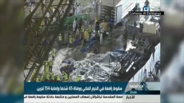 Un centenar de personas murieron al caerse una grúa en la Gran Mezquita