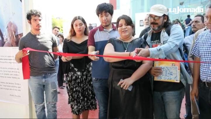 Inauguran protesta gráfica a un año del asesinato de Valdez