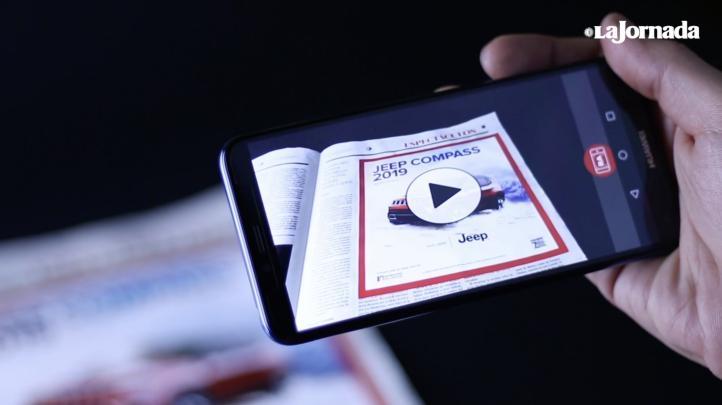 La Jornada presentó la app de Realidad Aumentada, única de su tipo en México