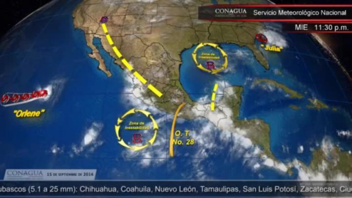 Pronóstico del tiempo para el 15 de septiembre