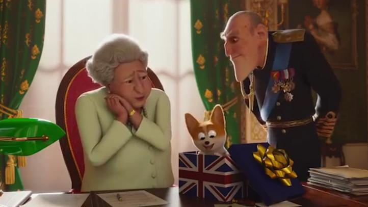 La Reina Isabel II y su perro corgi llegan a la pantalla grande