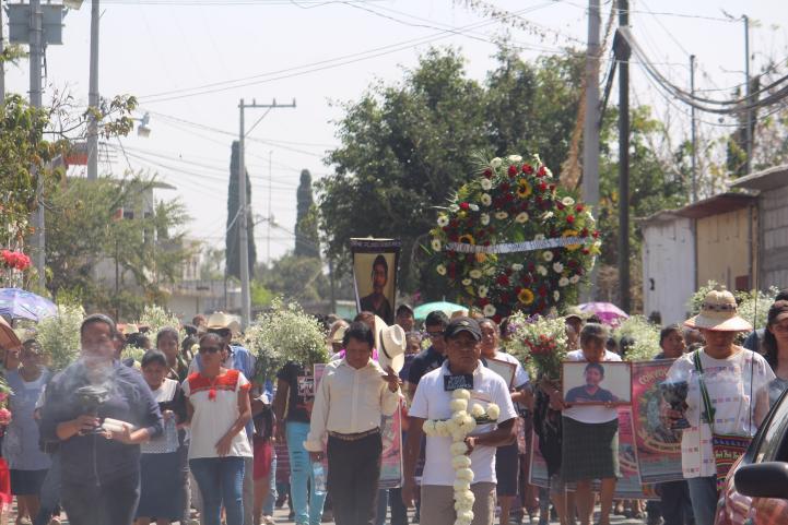 A un año de su asesinato, Amilcingo recuerda a Samir Flores