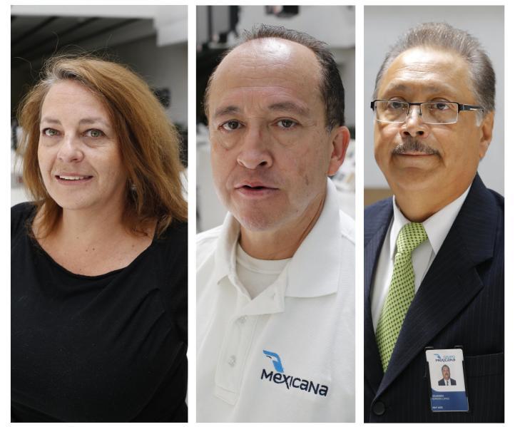 Jubilados de Mexicana cumplen un año en plantón en el Aeropuerto