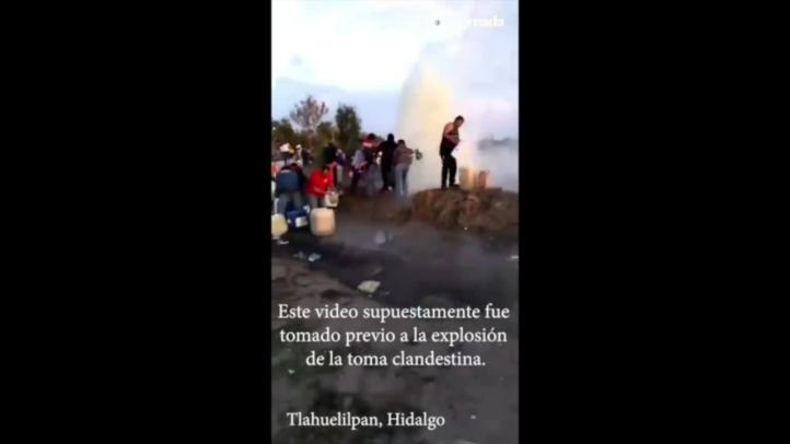 """Pa' que no les cuenten… Aquí estamos"", se escucha previo a explosión en Tlahuelilpan"