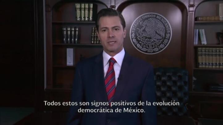 EPN llama a rechazar la violencia en los comicios del domingo
