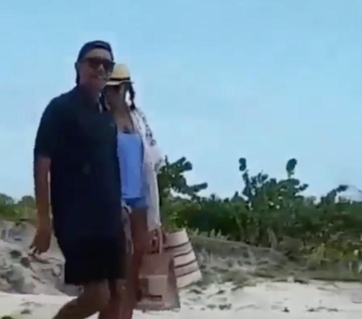 Los Obama descansan en el Caribe