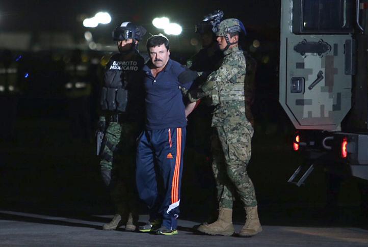 Capturan a El Chapo y lo trasladan al penal del Altiplano