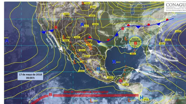 Pronóstico del Tiempo para el 17 de mayo de 2018