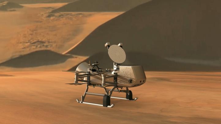Dragonfly, el helicóptero para investigar la luna Titán