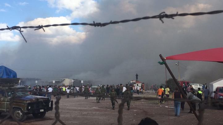 Explosión en mercado de San Pablito