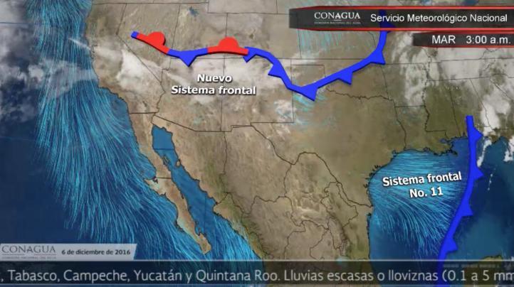 Pronóstico del tiempo para el 6 de diciembre