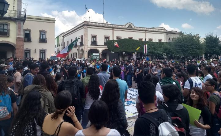 Estudiantes de Querétaro se solidarizan con los de la UNAM