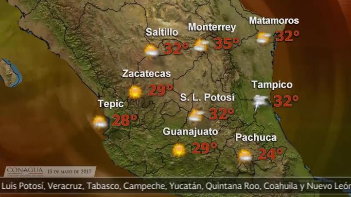 Pronóstico del tiempo para el 15 de mayo