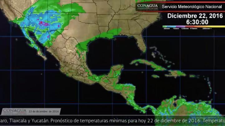 Pronóstico del tiempo para el 22 de diciembre