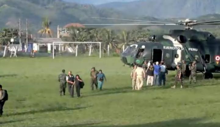 Rescatan a 39 personas que vivían en un campamento de Sendero Luminoso