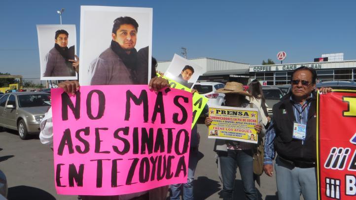 Marchan en Estado de México por asesinato de fotoperiodista
