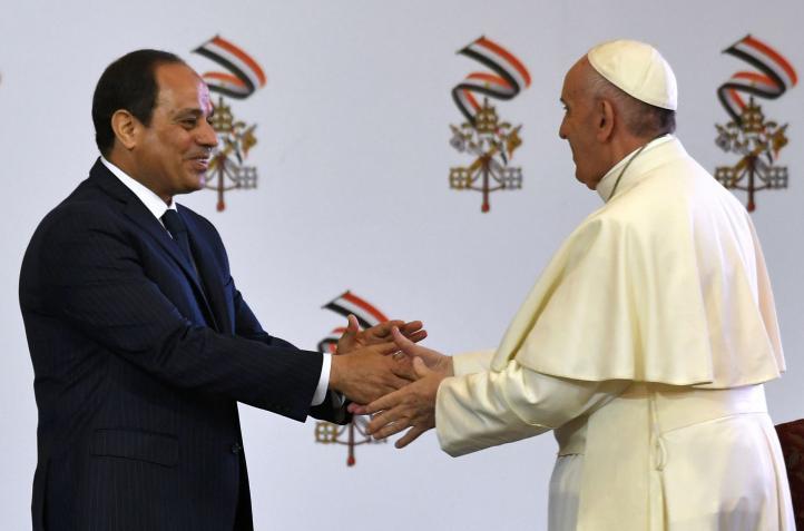 El Papa inicia visita a Egipto