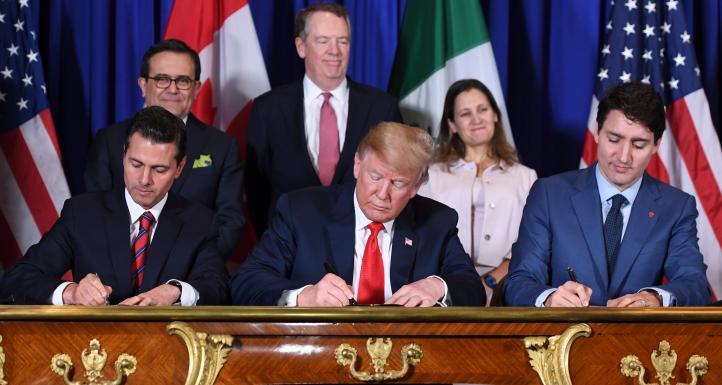 México, EU y Canadá firman nuevo acuerdo de libre comercio