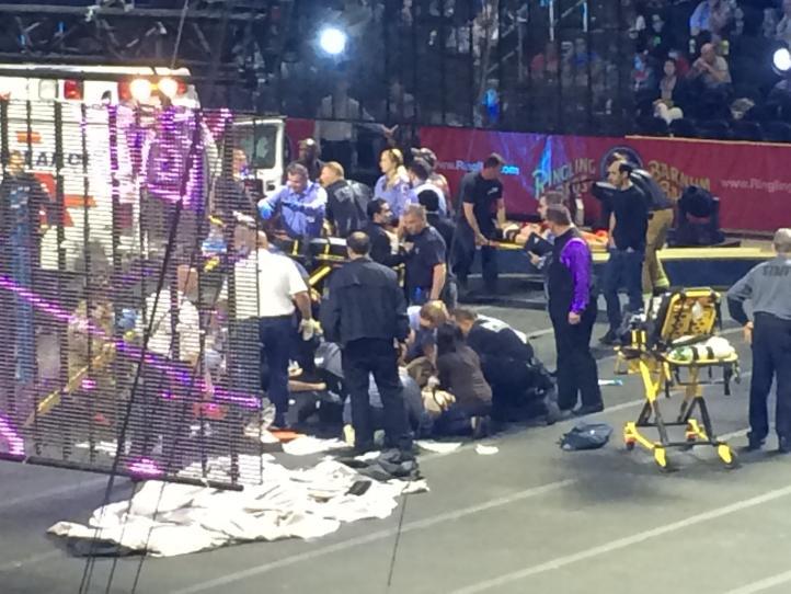 Tres heridos siguen graves tras accidente de circo en EU