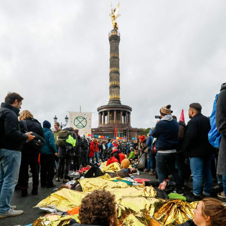 Alemania: protestas de Extintion Rebellion en Berlín