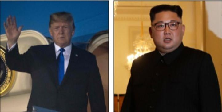 Trump y Kim en víspera de histórico encuentro