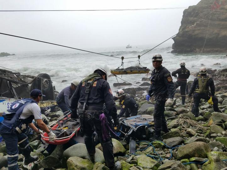Accidente vehicular en Perú