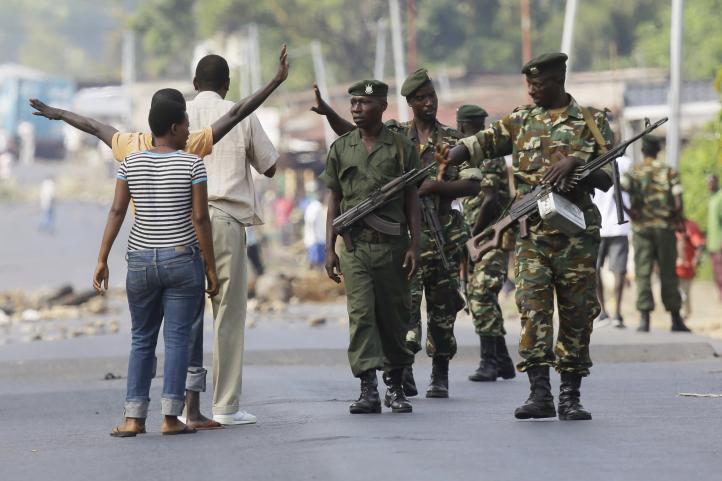 Ejército de Burundi apacigua protestas contra reelección presidencial
