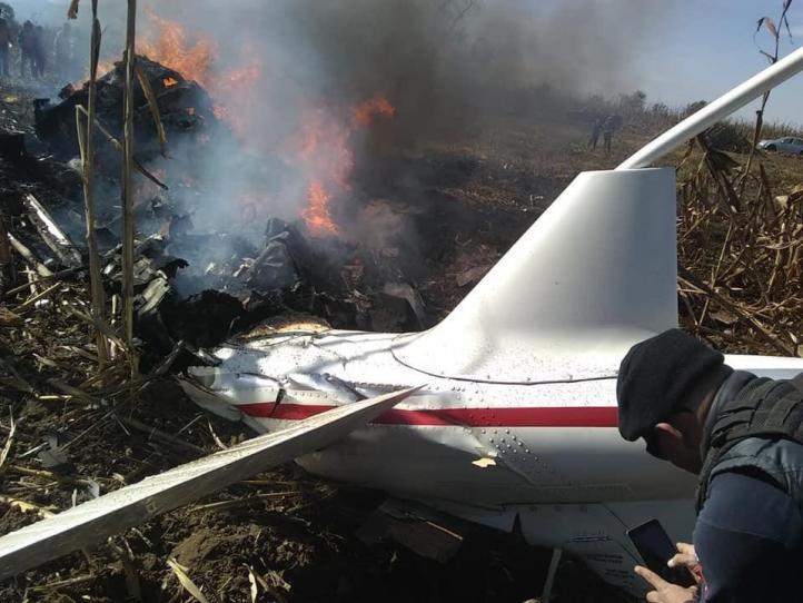 Mueren Moreno Valle y esposa en desplome de helicóptero