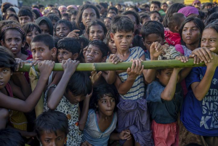 Combaten al cólera en campamento de refugiados