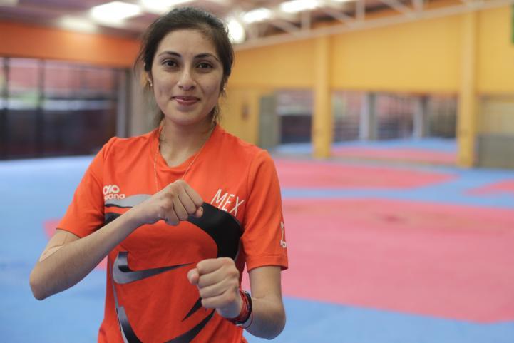 Itzel Manjarrez por sus primeros juegos olímpicos