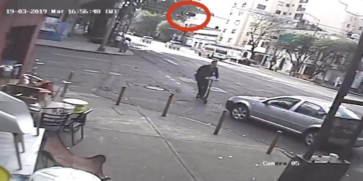 Atropellan a usuario de scooter