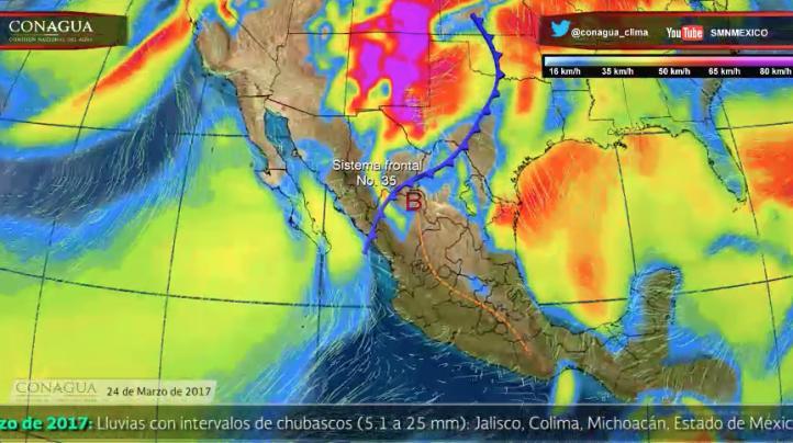 Pronóstico del tiempo para el 24 de marzo