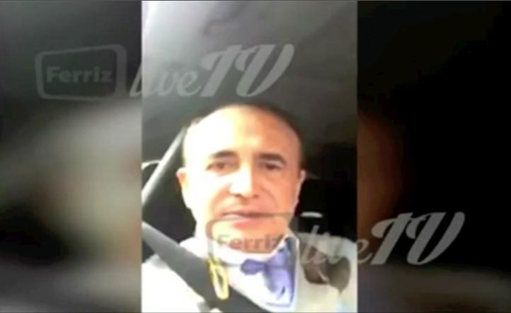 Momento del asalto a Pedro Ferriz de Con