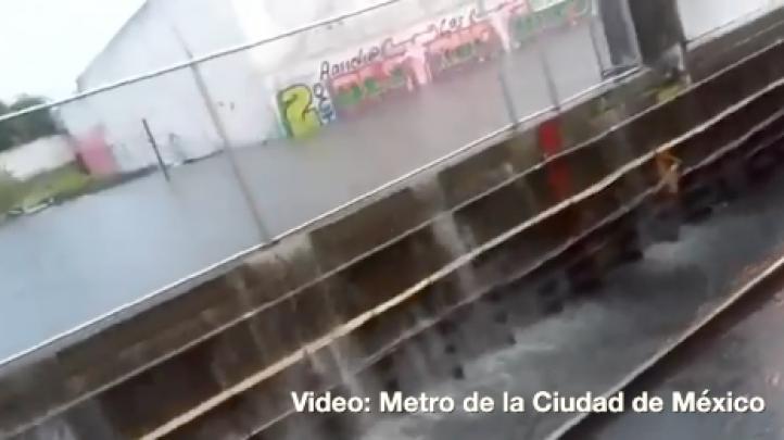 Tras fuerte tormenta, suspenden servicio en las estaciones de metro Los Reyes y La Paz