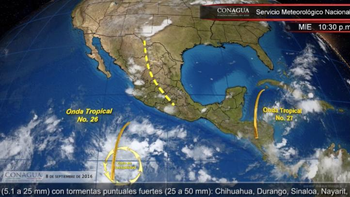 Pronóstico del tiempo para el 8 de septiembre