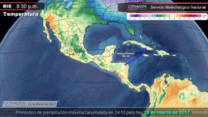 Pronóstico del tiempo para el 15 de marzo
