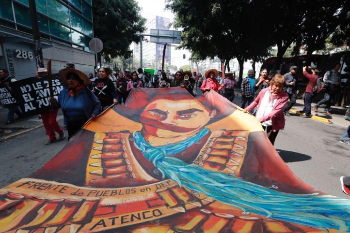 Frente de Atenco pide cancelación de NAICM