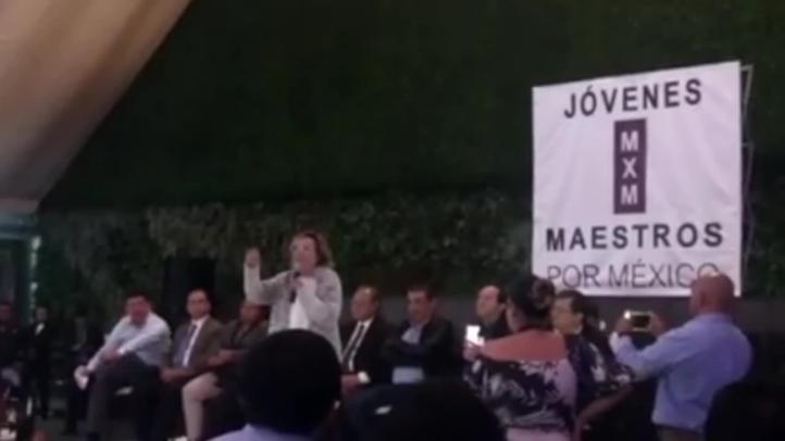 "Elba Esther: ""Sigo siendo la presidenta"" del SNTE"