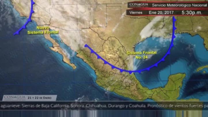 Pronóstico del tiempo para el 21 y 22 de enero