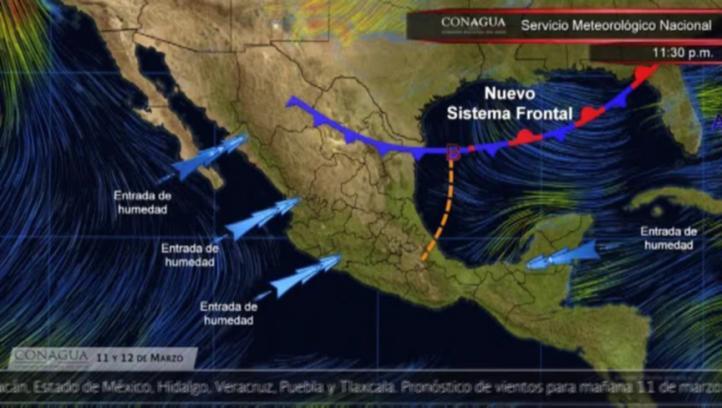 Pronóstico del tiempo para el 11 y 12 de marzo