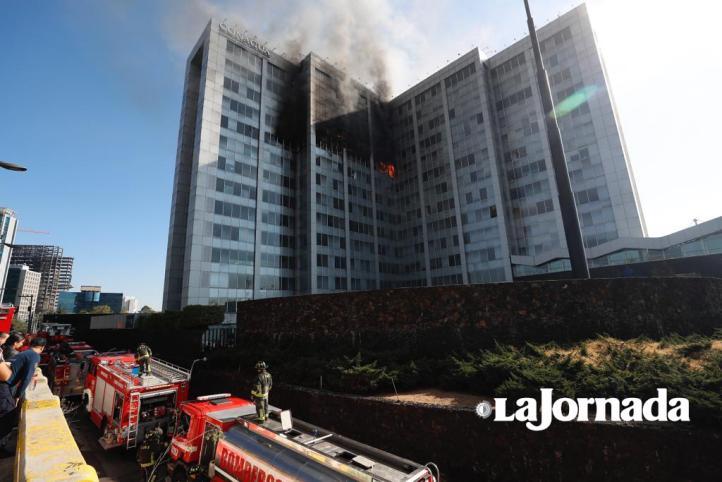 Incendio en las oficinas centrales de Conagua