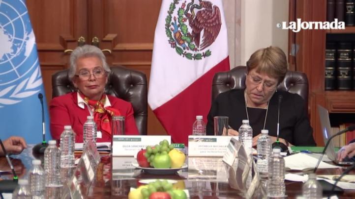 Reconoce el gobierno ante Bachelet grave crisis de derechos humanos
