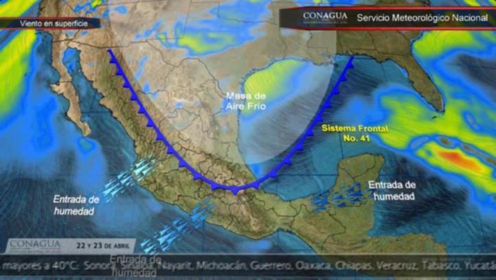 Pronóstico del tiempo para el 22 y 23 de abril