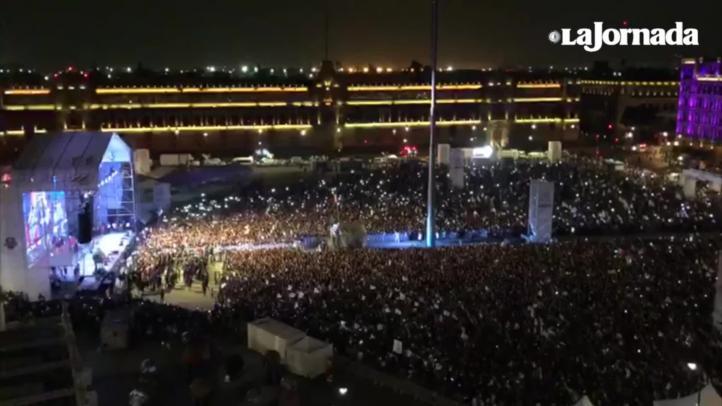 Histórico discurso de AMLO en el Zócalo