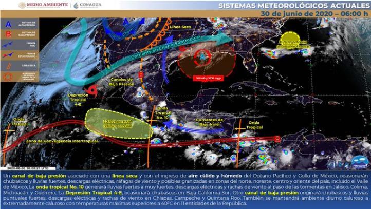 Pronóstico del Tiempo para el 30 de junio de 2020