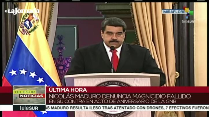 """""""Juan Manuel Santos está detrás del atentado"""": Nicolás Maduro"""
