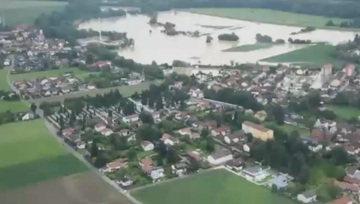 Varios ríos en Europa occidental se desbordan por las lluvias