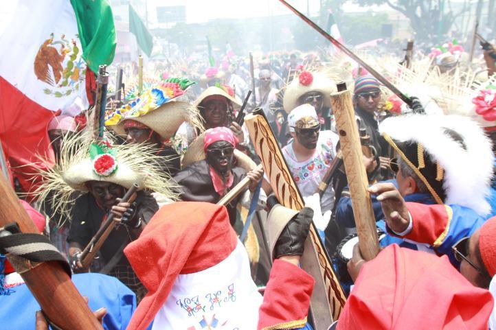 Escenifican la Batalla de Puebla en el Peñón de los Baños